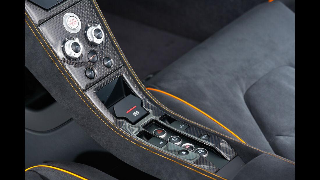 McLaren 650S Spider, Mittelkonsole, Bedienelemente