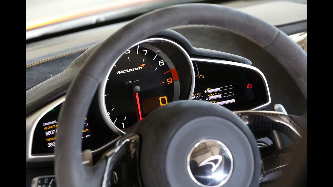McLaren 650S Spider, Rundinstrumente