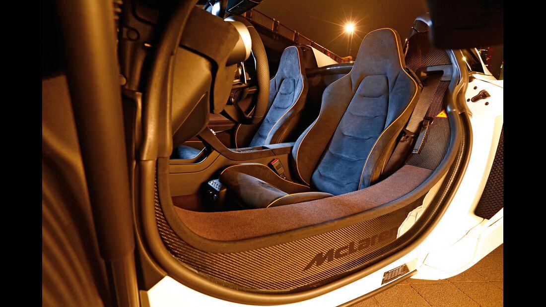 McLaren 650S Spider, Schalensitze