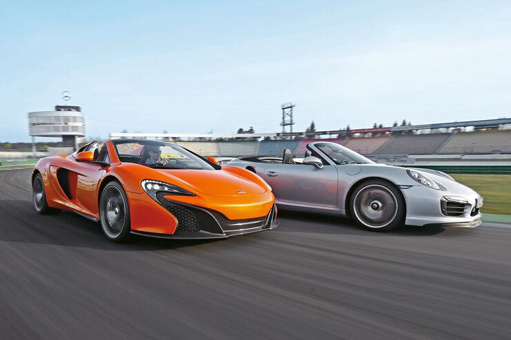 McLaren 650s Spider, Porsche 911 Turbo S Cabriolet, Frontansicht