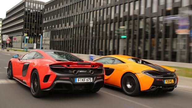 McLaren 675LT und 570S, Heckansicht