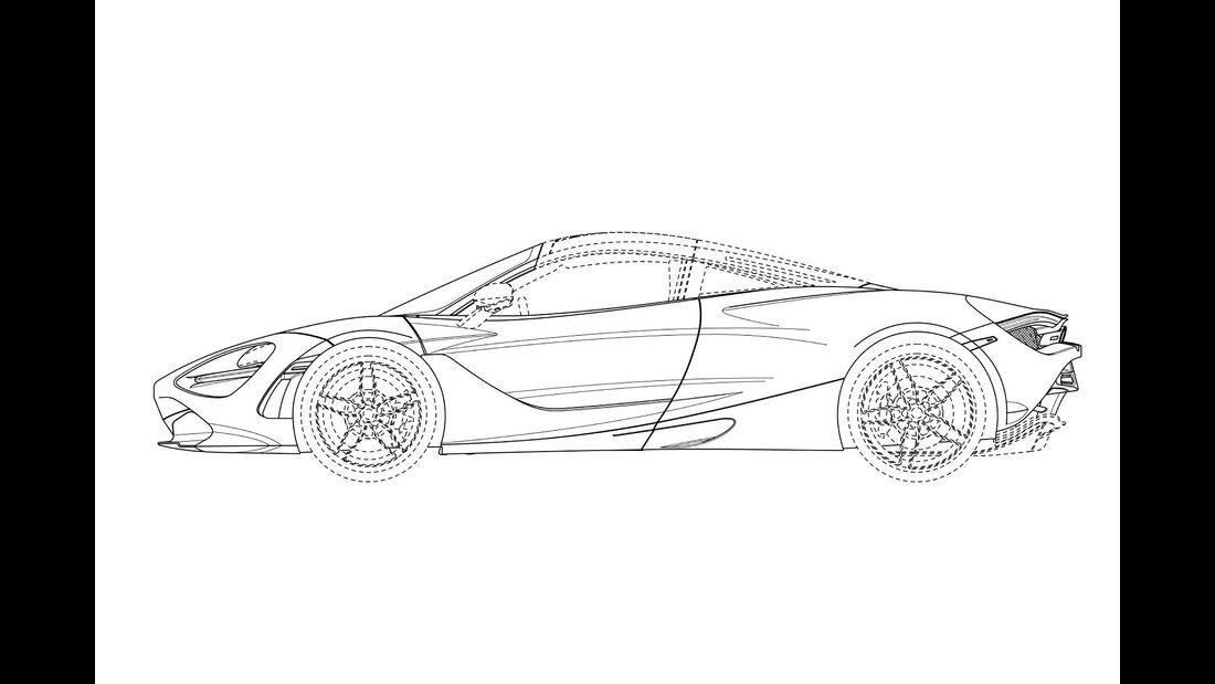 McLaren 720S Spider Patentzeichnungen