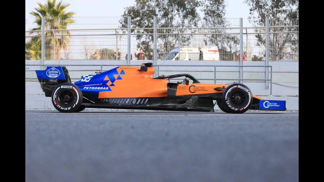McLaren - Abmessungen - Barcelona-Test 2019