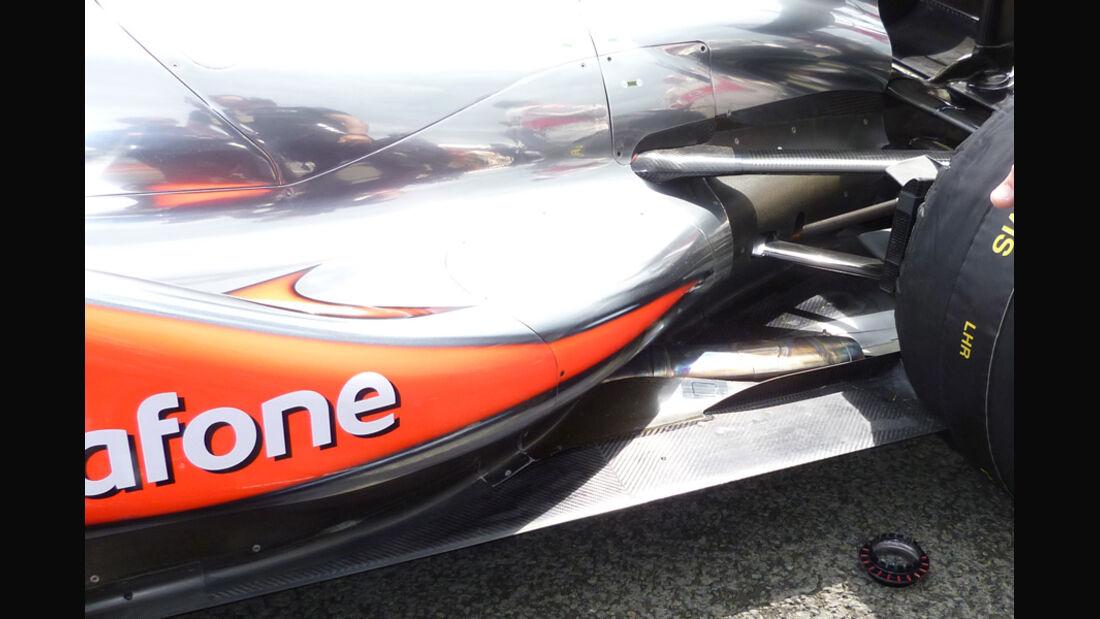 McLaren Auspuff GP England 2011