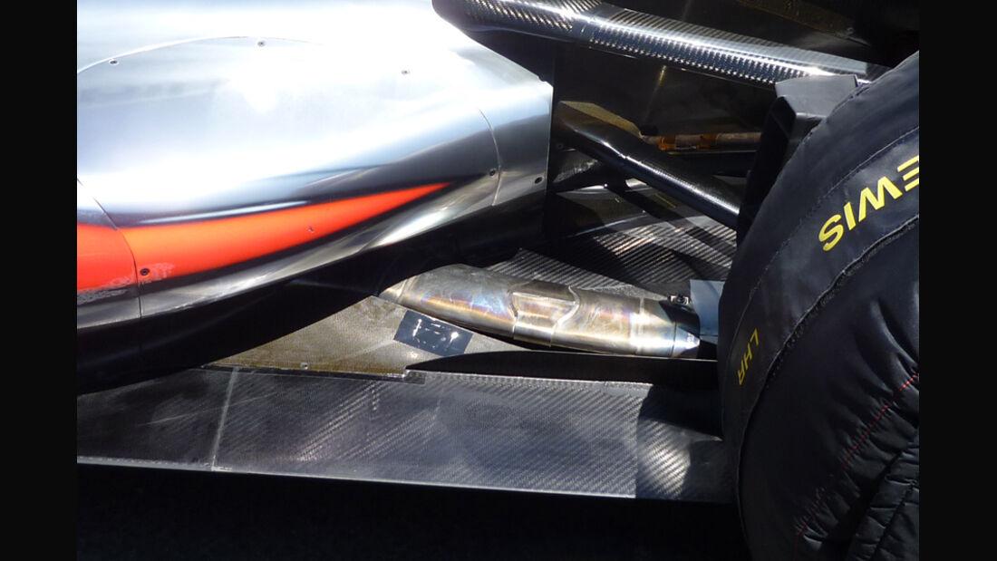McLaren Auspuff GP Europa 2011