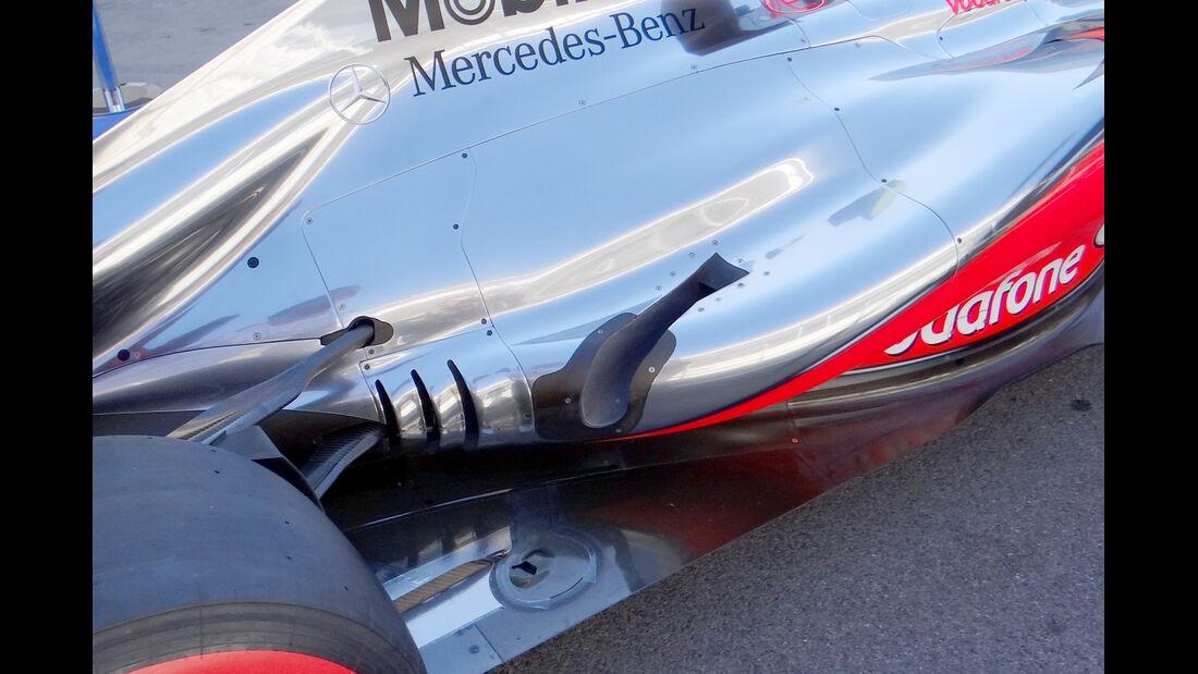 McLaren Auspuff GP Japan 2012