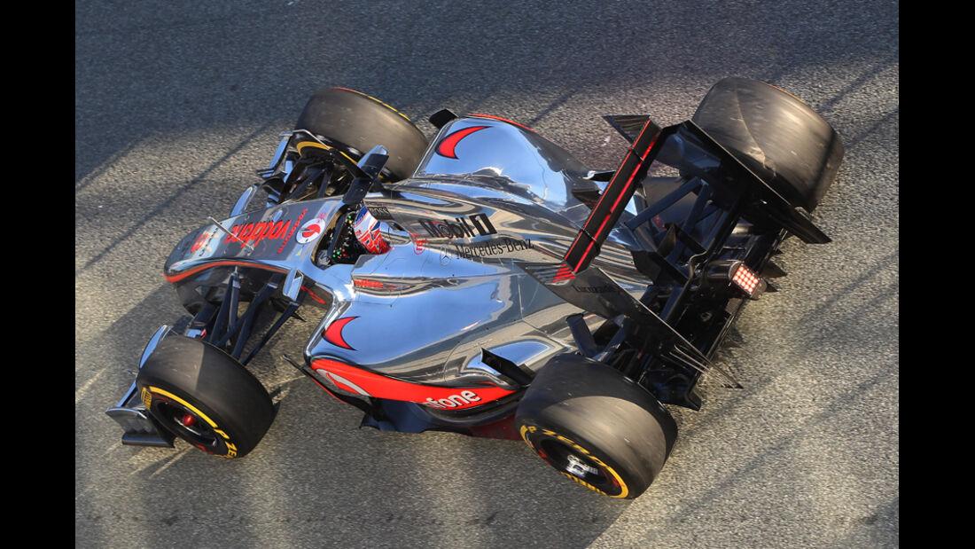 McLaren Auspuff Jerez Test 2012