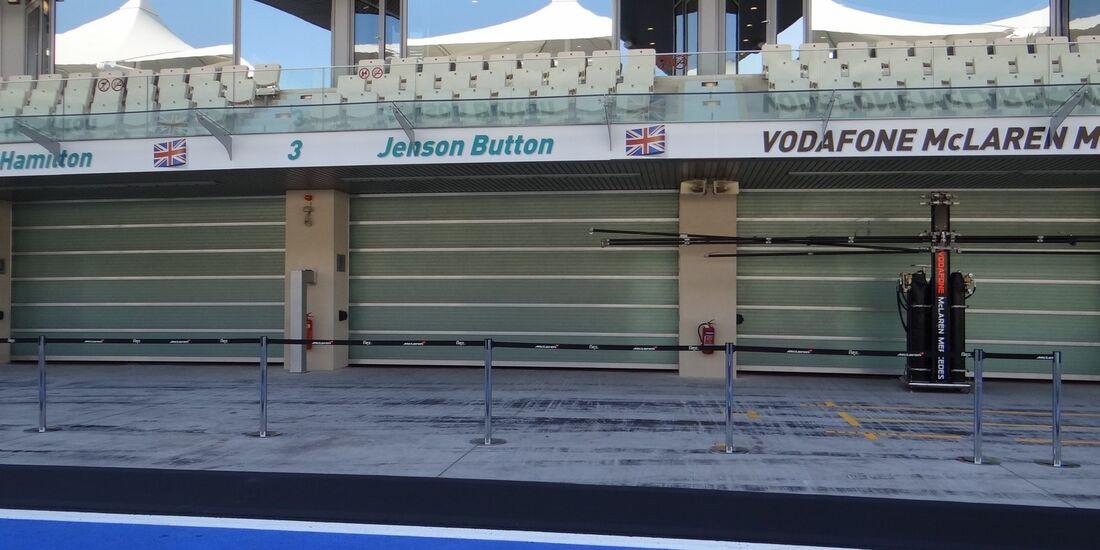 McLaren Box  - Formel 1 - GP Abu Dhabi - 01. November 2012