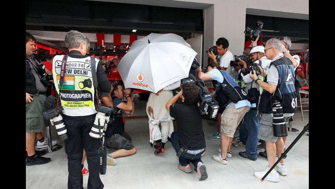 McLaren Box - Formel 1 - GP Indien - 26. Oktober 2012