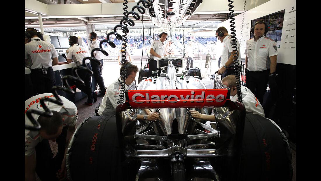 McLaren Box - Formel 1 - GP Monaco - 25. Mai 2013