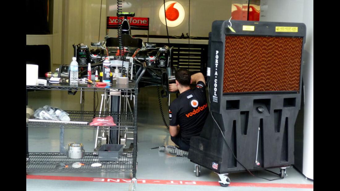 McLaren-Box - GP Singapur - 22. September 2011
