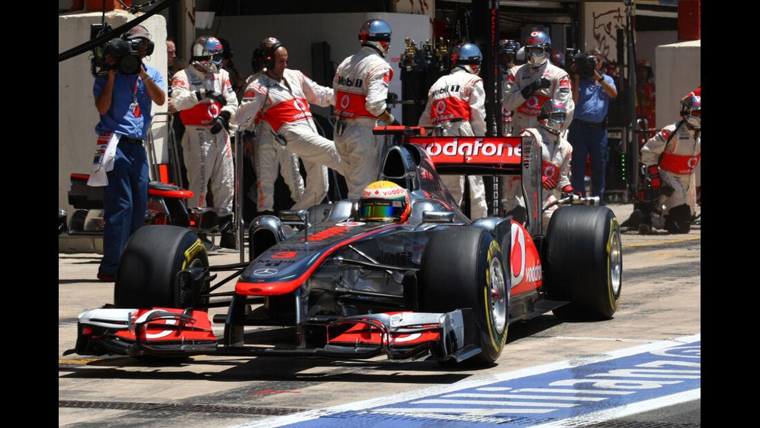 McLaren Boxenstopp 2011