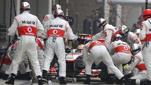 McLaren Boxenstopp 2012