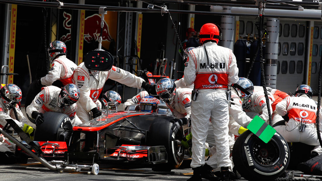 McLaren Boxenstopp 2012 Button Hockenheim