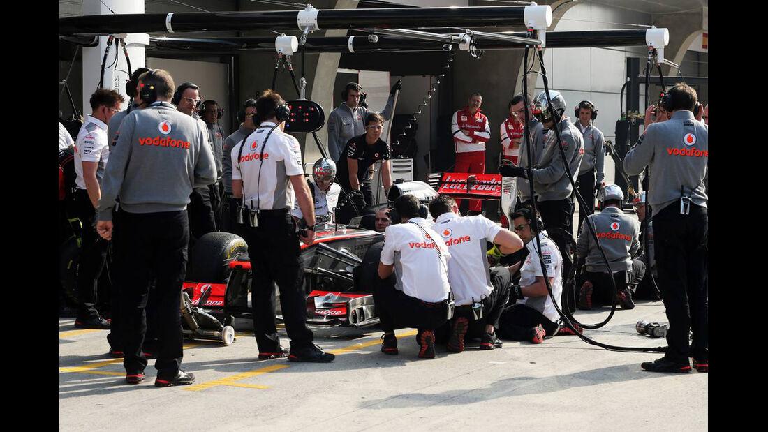 McLaren Boxenstopp - Formel 1 - GP China - 12. April 2013
