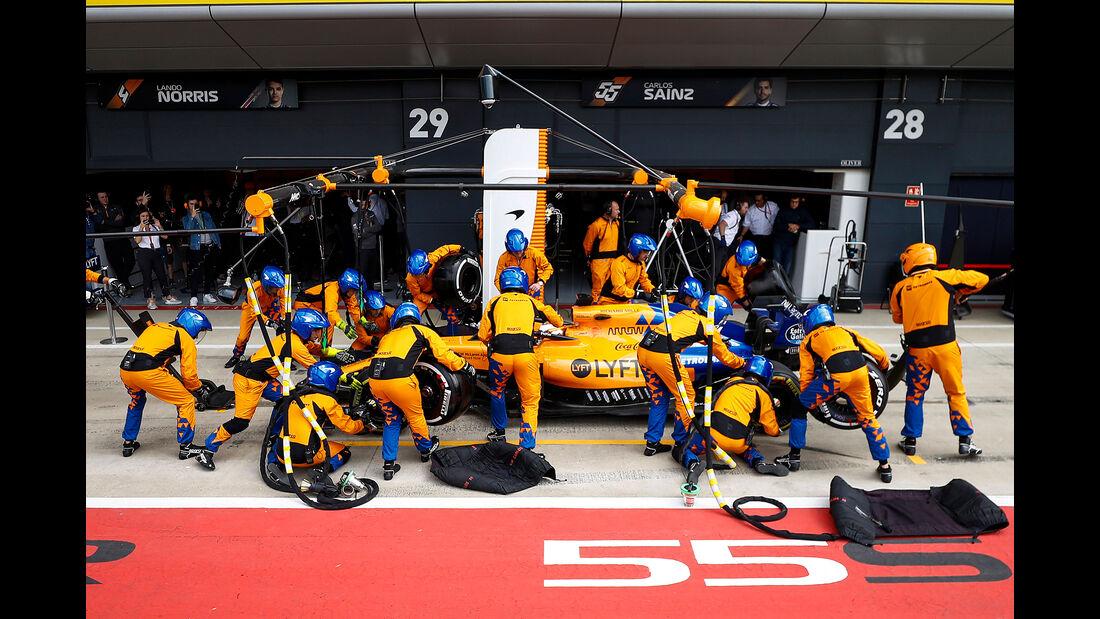 McLaren - Boxenstopp - GP England 2019