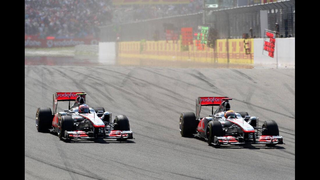 McLaren Button Hamilton Impressionen GP Türkei 2011