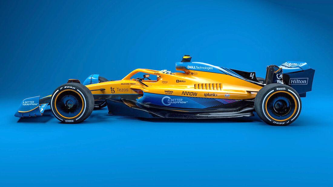 McLaren - F1-Auto 2022 - Team-Lackierung