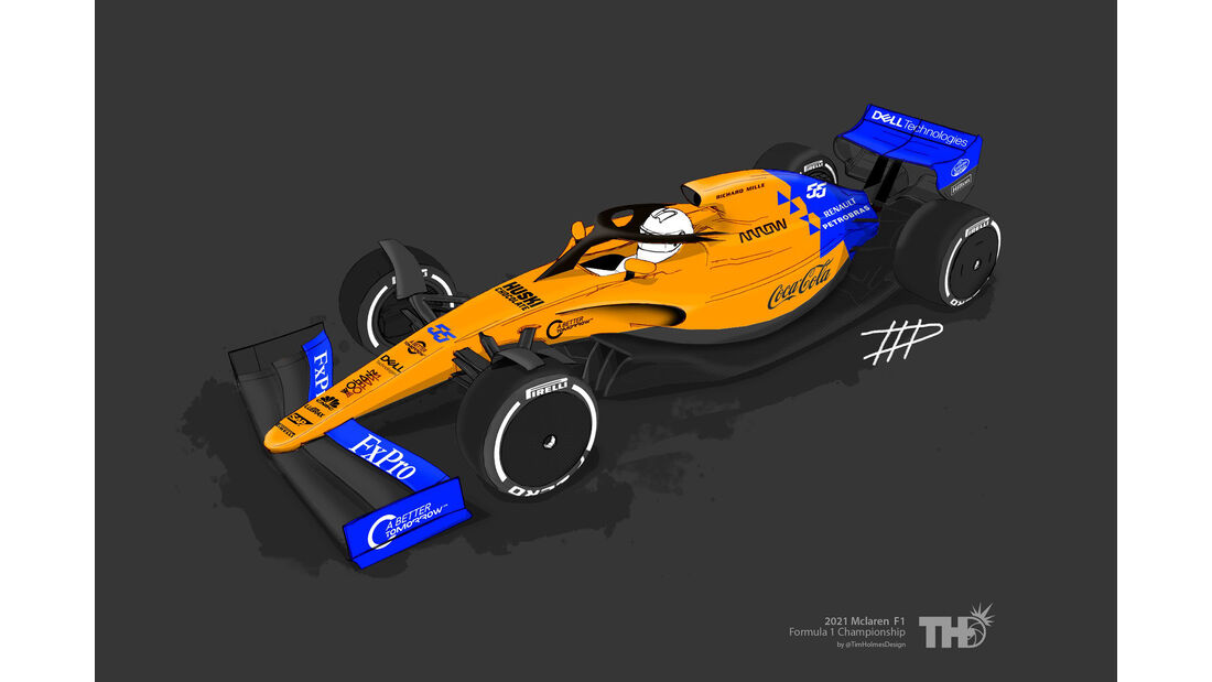 McLaren - F1-Concept 2021 - Livery by Tim Holmes