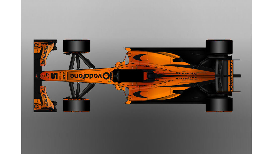McLaren - Formel 1 - Lackierung - Design-Concept