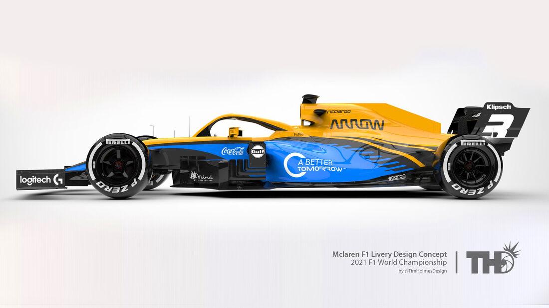 McLaren - Formel 1 - Livery-Concept 2021 - Tim Holmes Design