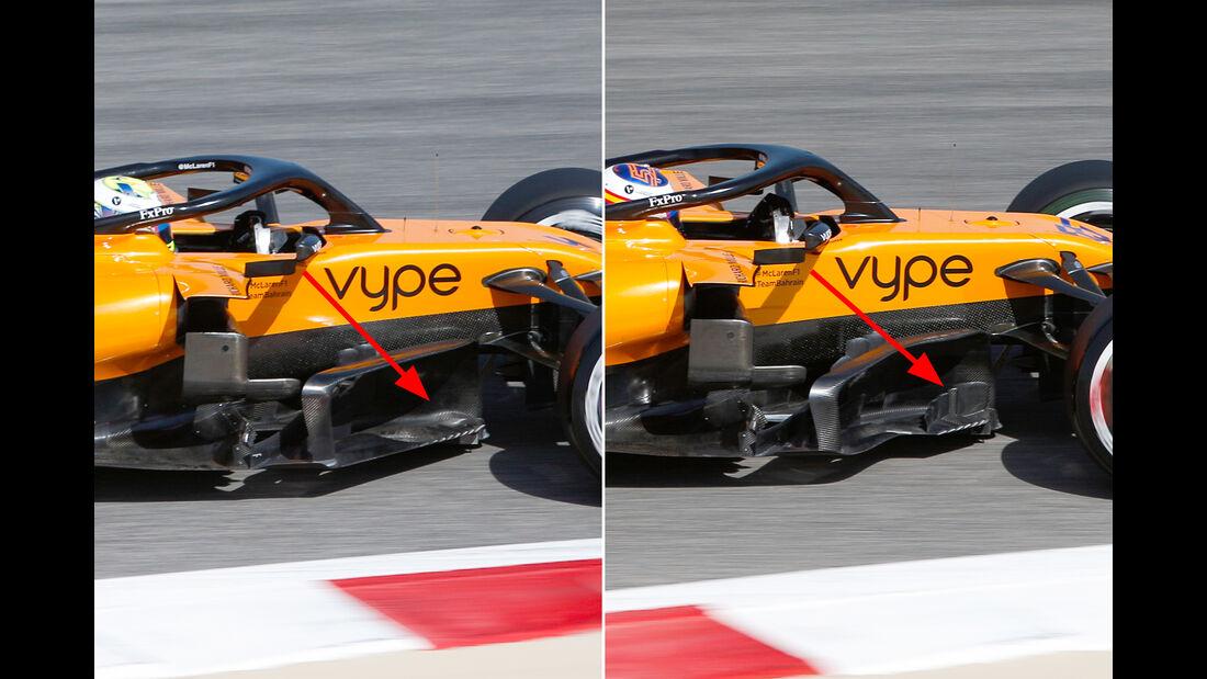 McLaren - Formel 1 - Technik - GP Australien / GP Bahrain 2019
