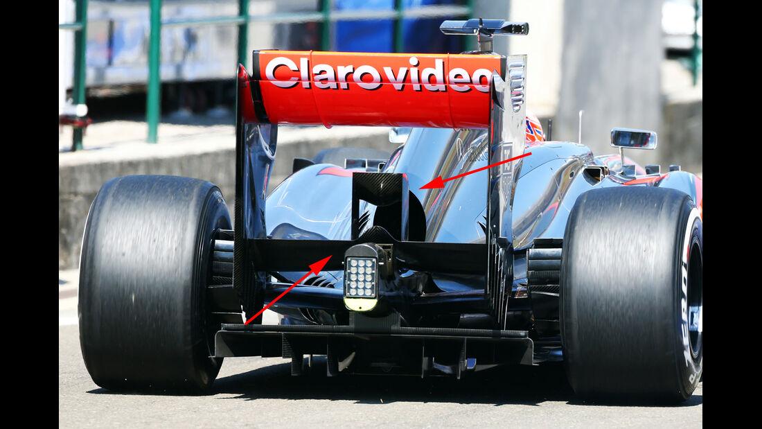 McLaren - Formel 1-Technik - GP Belgien 2013
