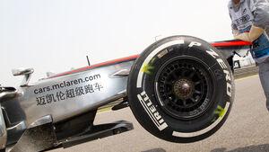 McLaren GP China 2013 Pirelli-Reifen