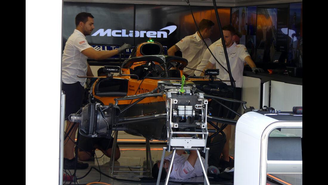 McLaren - GP Ungarn - Budapest - Formel 1 - Donnerstag - 1.08.2019