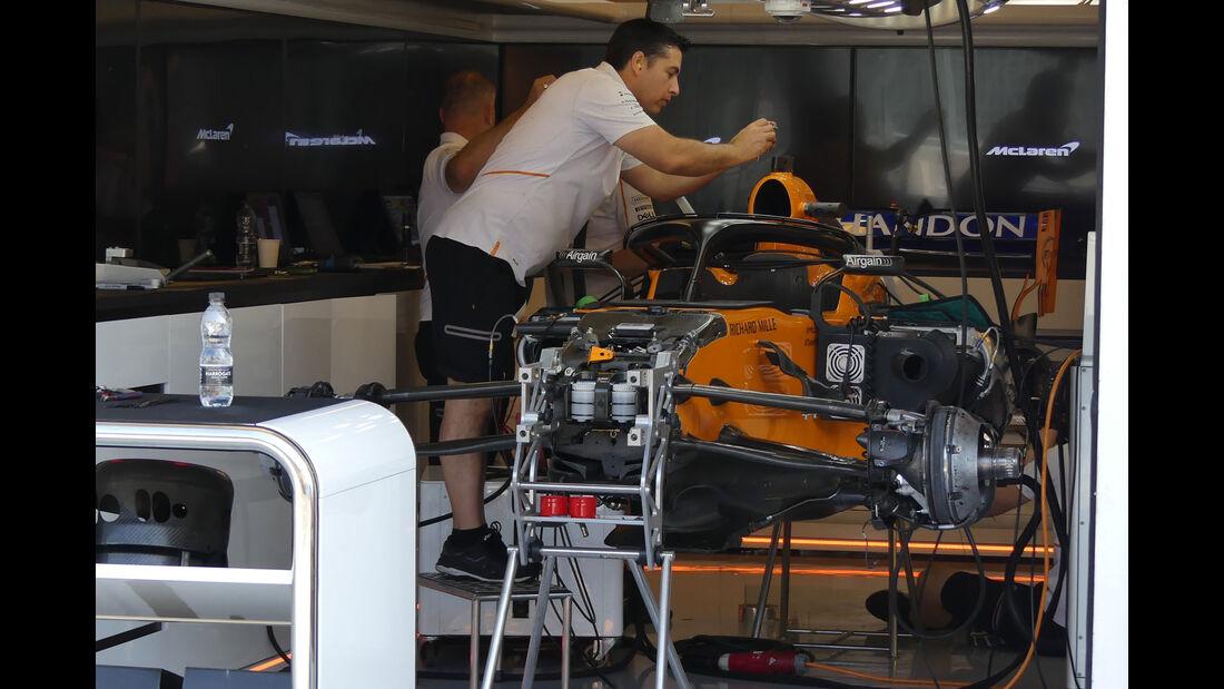 McLaren - GP Ungarn - Budapest - Formel 1 - Donnerstag - 26.7.2018