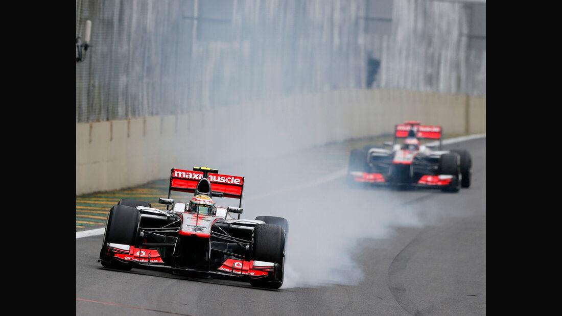 McLaren Hamilton Button GP Brasilien 2012