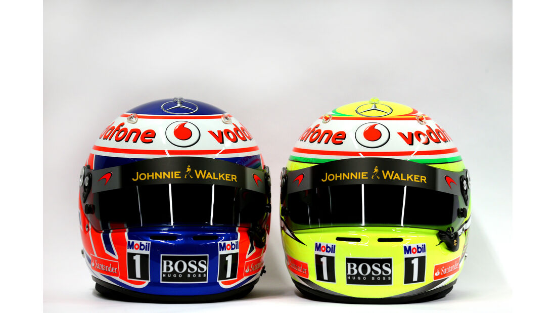 McLaren Helm Perez Button F1 2013