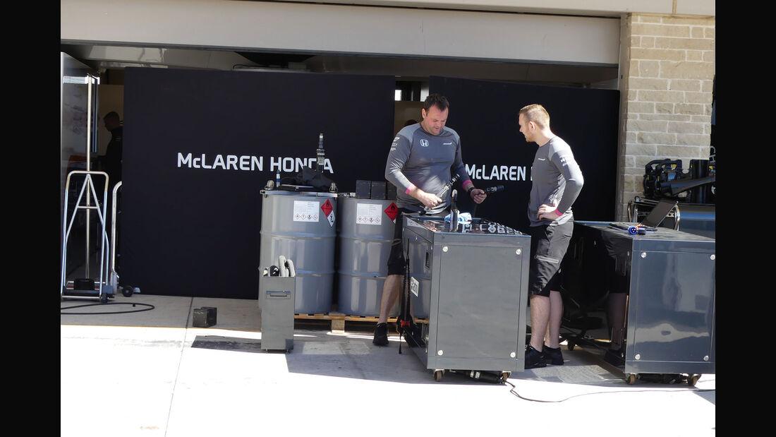 McLaren-Honda - GP USA - Austin - Formel 1 - Mittwoch - 18.10.2017