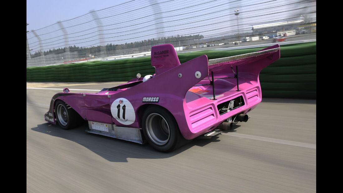 McLaren M8F, Rückansicht, Rennstrecke