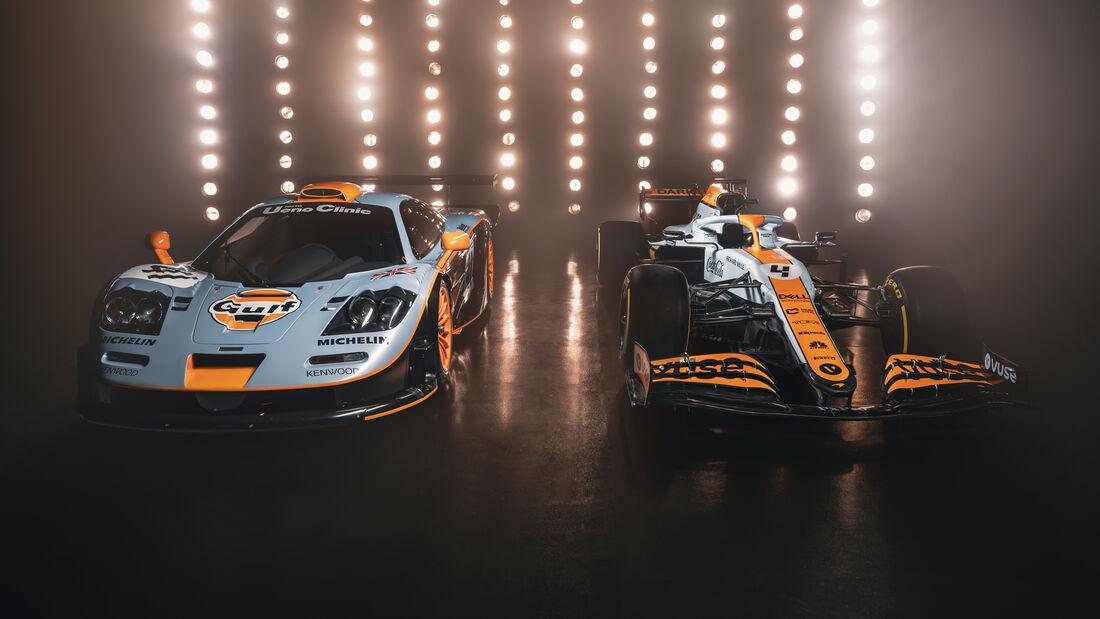 McLaren MCL35M - Gulf-Design - F1 - Formel 1 - GP Monaco 2021