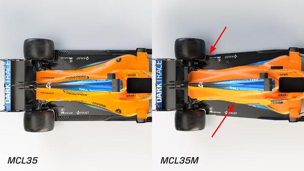McLaren MCL35M vs. MCL35 - Formel 1 - 2021
