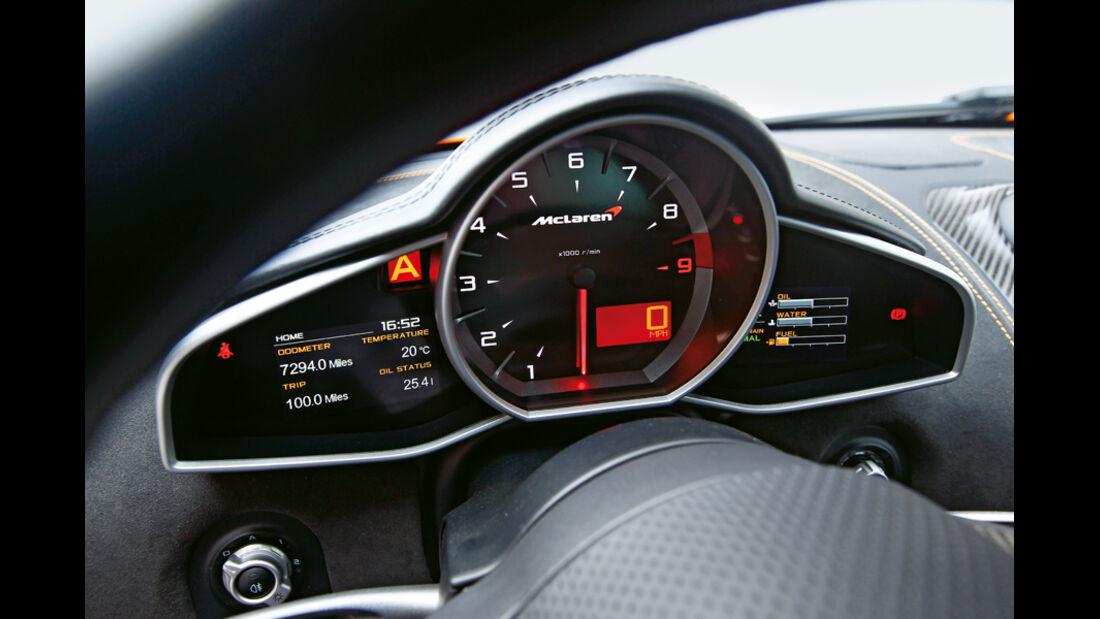 McLaren MP4-12C, Rundinstrumente