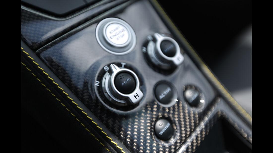 McLaren MP4-12C Spider, Bedienelemente