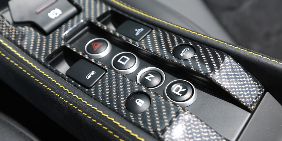 McLaren MP4-12C Spider, Mittelkonsole