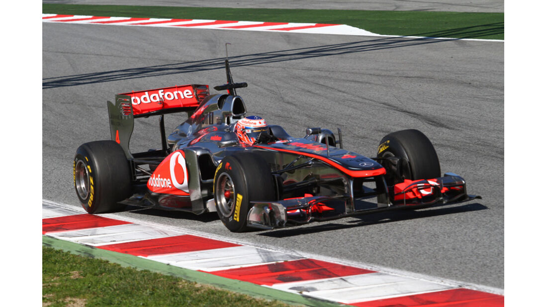 McLaren MP4-26 Button Formel 1 Test Barcelona 2011