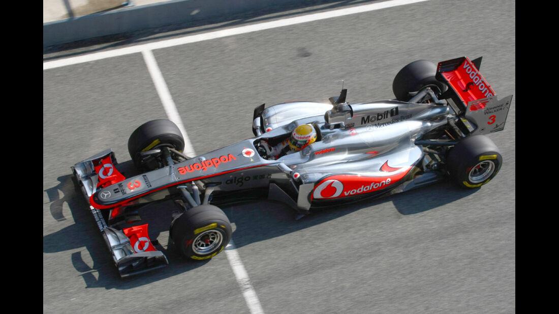 McLaren MP4-26 Hamilton Test 2011