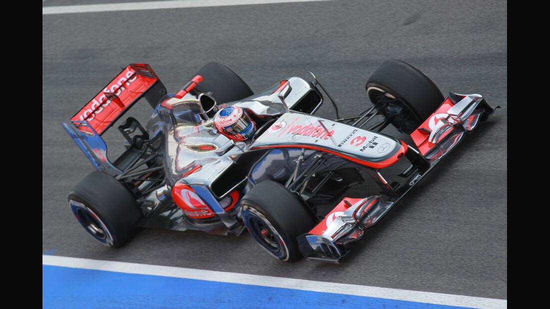 McLaren MP4-27 2012 Testfahrten