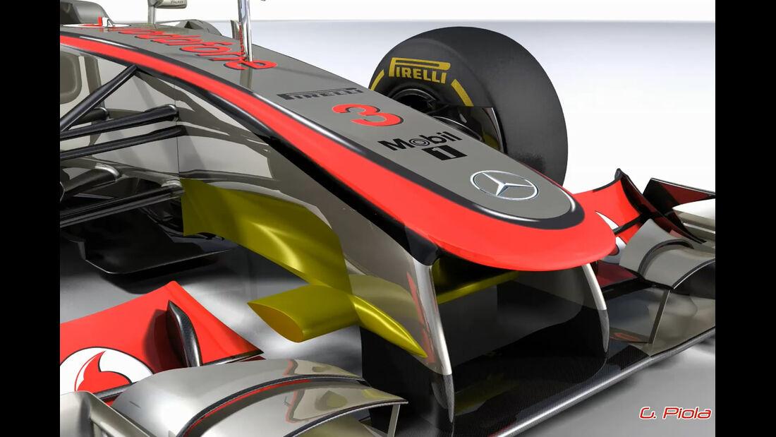 McLaren MP4-27 Piola-Technik Formel 1 2012