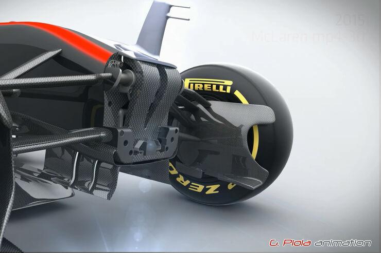 McLaren MP4-30 - Piola Animation - Formel 1 - 2015