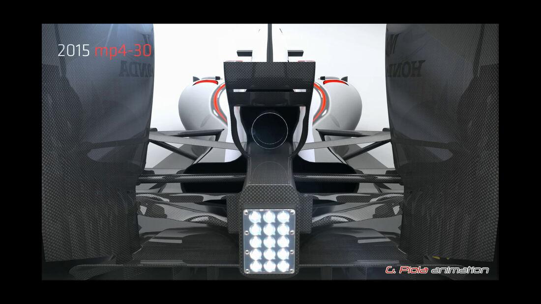 McLaren MP4-30 - Piola Technik Animation - F1 2015