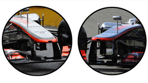 McLaren Nase Mugello F1 Test 2012