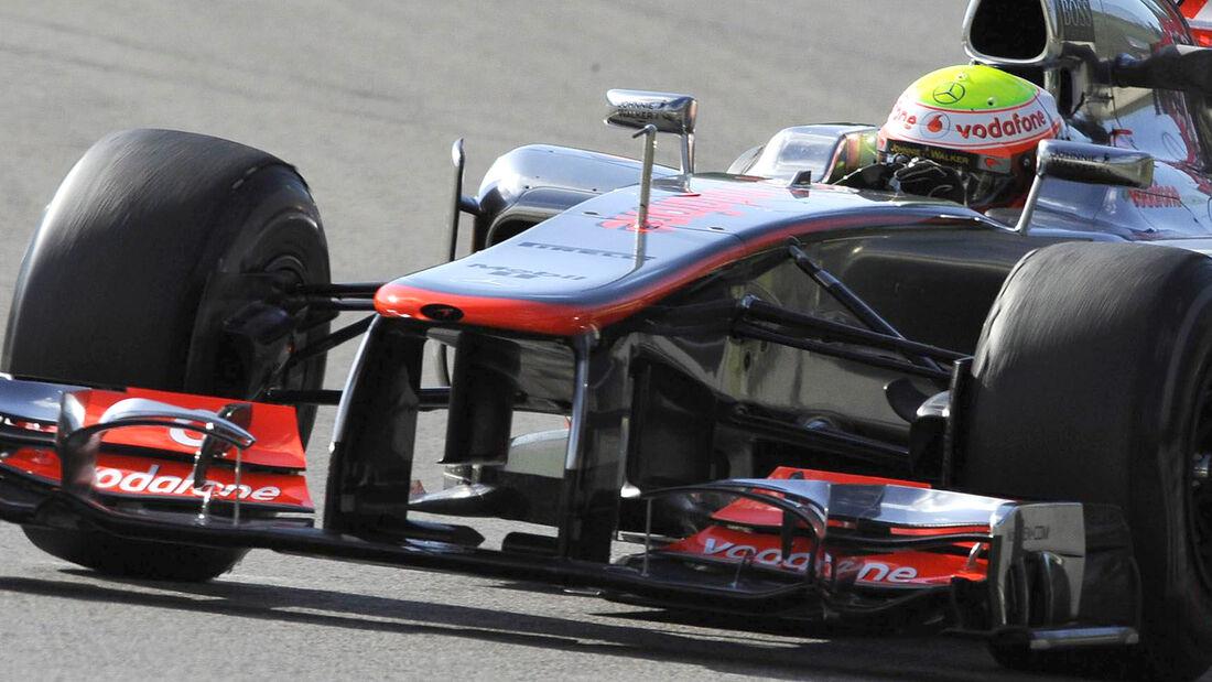 McLaren Nase Mugello Test 2012