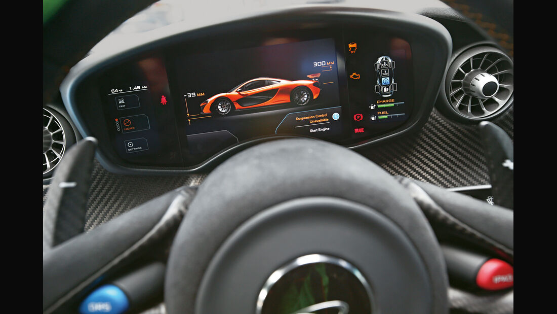 McLaren P1, Display, Infotainment