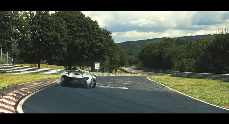 McLaren P1, Exterieur, Rekordfahrt