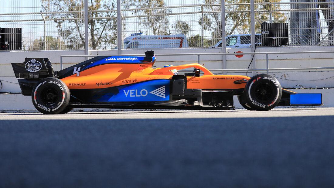 McLaren - Profil - F1-Test - Barcelona - 2020